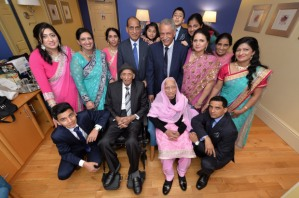 The world's oldest married couple, from Bradford, celebrate their birthdays with their family at the Midland Hotel, Bradford - Karam Chand is 110 and his wife Kartari Chand 103. 15.11.15 picture by Roger Moody / Guzelian WORDS BY GUZELIAN WORDS BY GUZELIAN The worldís oldest living married couple have reached yet another millstone as they celebrate their 90th wedding anniversary today (DECEMBER 11). Karam and Katari Chand, from Bradford, West Yorkshire, have spent almost their entire lives together as their love for each grew stronger every year. Mr and Mrs Chand were married in India at a Sikh ceremony on December 11 in 1925, when the country was under British rule. They took the title of oldest married couple when they celebrated their 88th wedding anniversary and were looking to reach 90-year mark ever since.